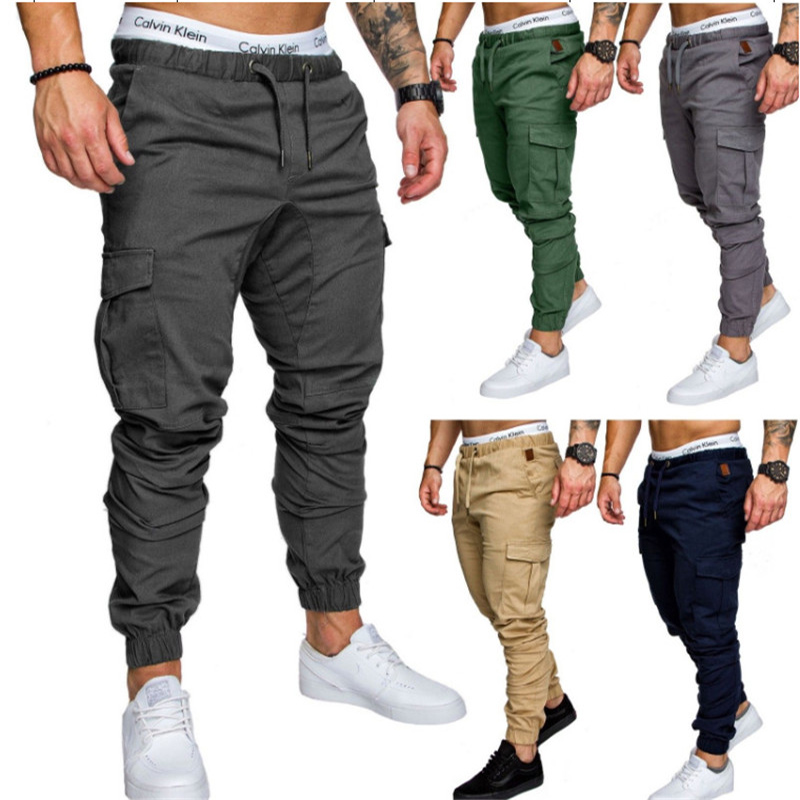Harem Pants Men Jogger Casual Fashion Baggy Cargo Pants Many Pockets Youth Pants Black Tactical Sweatpants Trousers TJWLKJ
