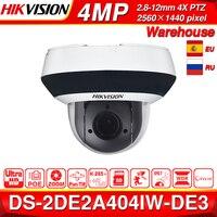Hikvision PTZ IP Camera DS 2DE2A404IW DE3 4MP 4X zoom Network POE H.265 IK10 ROI WDR DNR Dome CCTV PTZ Camera