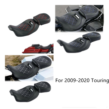Motorcycle Driver Passenger Seat Set For Harley Touring Road King Glide CVO 2009-2020 motorcycle driver passenger seat for harley touring electra road king street glide road glide ultra limited flhr 2009 2020
