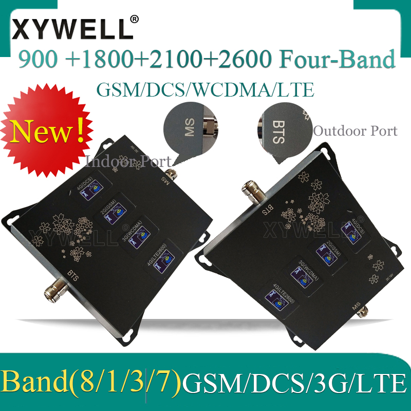 2020 New!! Four-Band 900 1800 2100 2600 2G 3G 4G Mobile signal Booster 4G Cellular Amplifier 4g Repeater GSM DCS WCDMA LTE 3