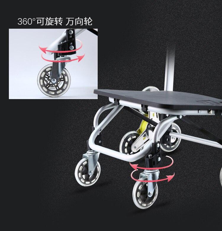 Ältere Trolley warenkorb 6 Räder Frau Warenkorb für treppen warenkorb Anhänger Tragbare warenkorb Große einkaufstaschen - 4