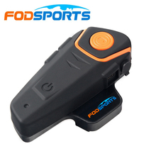 Fodsports BT S2 Intercomunicador Moto אלחוטי קסדת Bluetooth אוזניות FM רדיו כפול אנשים מלא דופלקס אופנוע אינטרקום
