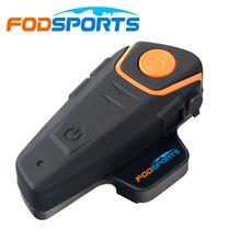 Fodsports BT S2 دراجة نارية خوذة إنترفون لاسلكي ميكروفون مقاوم للماء BT البيني راديو FM 2 الدراجين