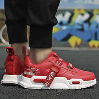 Men Platform Shoes Plus Size 45 Shallow Mesh Breathable Cool Sneakers Man Buckle Strap Casual Tennis Mixed Colors