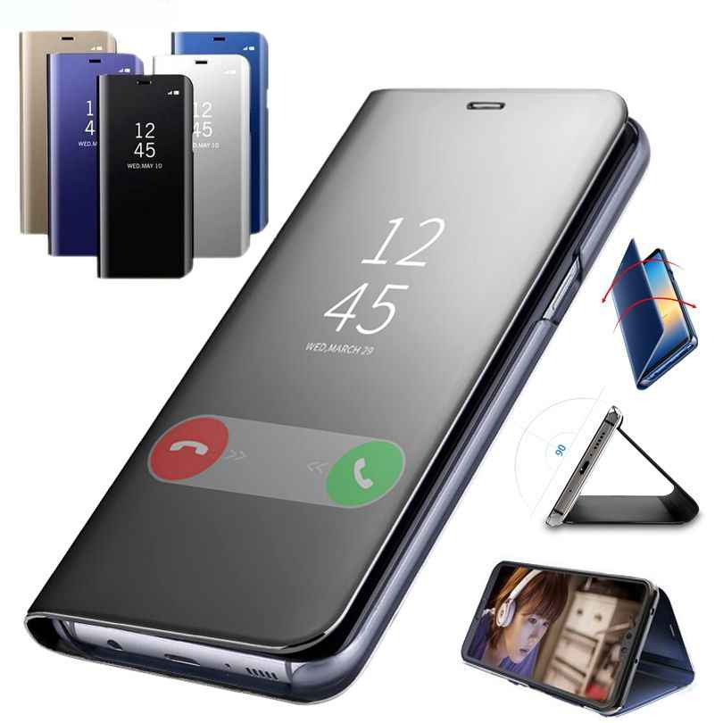 חכם מראה מקרה עבור vivo X23 X21 X20 V7 בתוספת V5 V5S V11 Y83 פרו Y85 Y81 Y79 Y75 Y69 y67 Y66 Y65 Flip עור טלפון כיסוי NEX