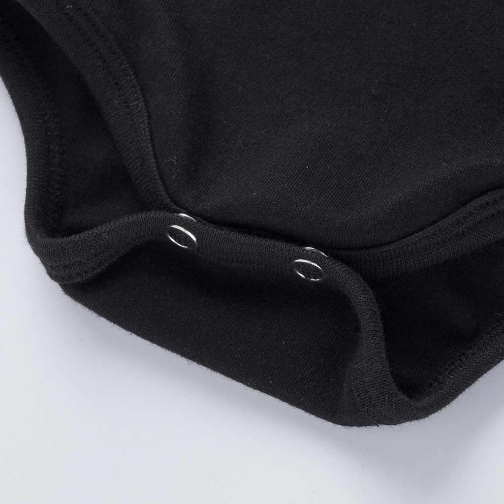2020 bebé recién nacido Bodysuit negro estampado de moda Bodysuit bebé camisa moda algodón manga larga invierno