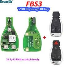 Original Keyless Gehen FBS3 VVDI WERDEN smart schlüssel 3/4 Taste 315mhz 433mhz einer taste starten für Benz W204 w207 W212 W164 W166 W221 CLK