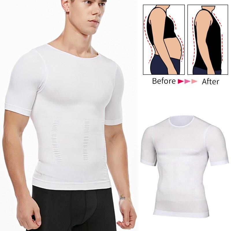 Mens Slimming Body Shaper Shapewear Abs Abdomen Co