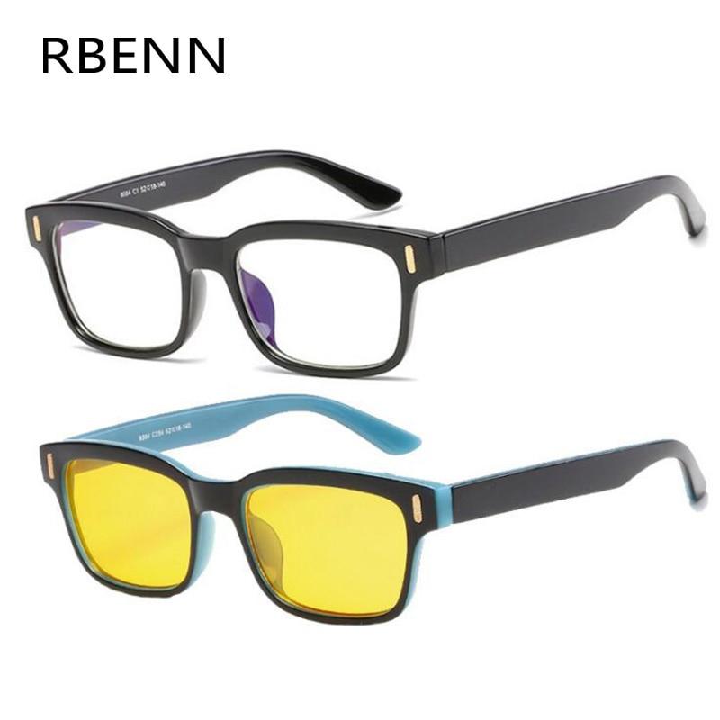 RBENN Anti Blue Rays Computer Glasses Men Women Blue Light Blocking Gaming Glasses Anti-fatigue Eyewear With Yellow Lense