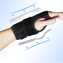 1 piece Wristband Wrist Support Sport Sprain Splint Fractures Carpal Tunnel Wrist Brace Fixed Hand Band Exercise Safety Dropship carpal tunnel medical wrist joint support brace support pad sprain forearm splint for band strap protection safe wrist support