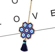 Женские бусины ожерелье воротник fairywoo miyuki цепочка с синими