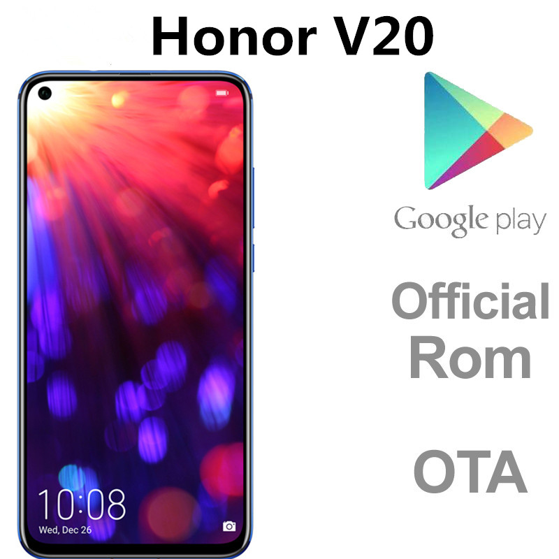 В наличии EU версия Honor V20 Honor вид 20 PCT-L29 сотовый телефон с функцией отпечатка пальца NFC Android 9,0 Восьмиядерный процессор Kirin 980 48.0MP 6,4