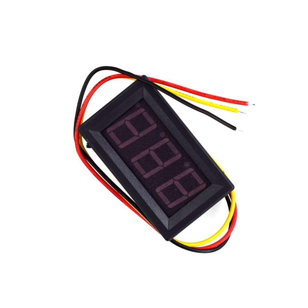 DC 0-30V 0-100V 0.56 Inch 3 Wire LED Digital Voltmeter Voltage Meter Volt Instrument Tool DIY Home Use Three Digital DC Meter