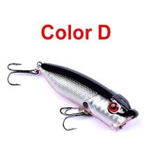 1pcs lure 7.3cm/11g Fishing high quality Min fish Artificial hard bait 3D Eyes plastic Poppa fishing bait 6# Barbed Fish hook цена