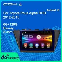 COHO Per Toyota Prius Alpha RHD 2012 2015 Android 10.0 Octa Core 6 + 128G Auto Centrale Multimediale lettore Dvd di Navigazione Gps Radio