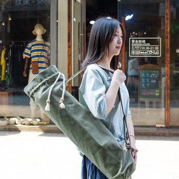 Холщовая сумка-чехол для Йоги (68x20 см/10 цветов) с завязками