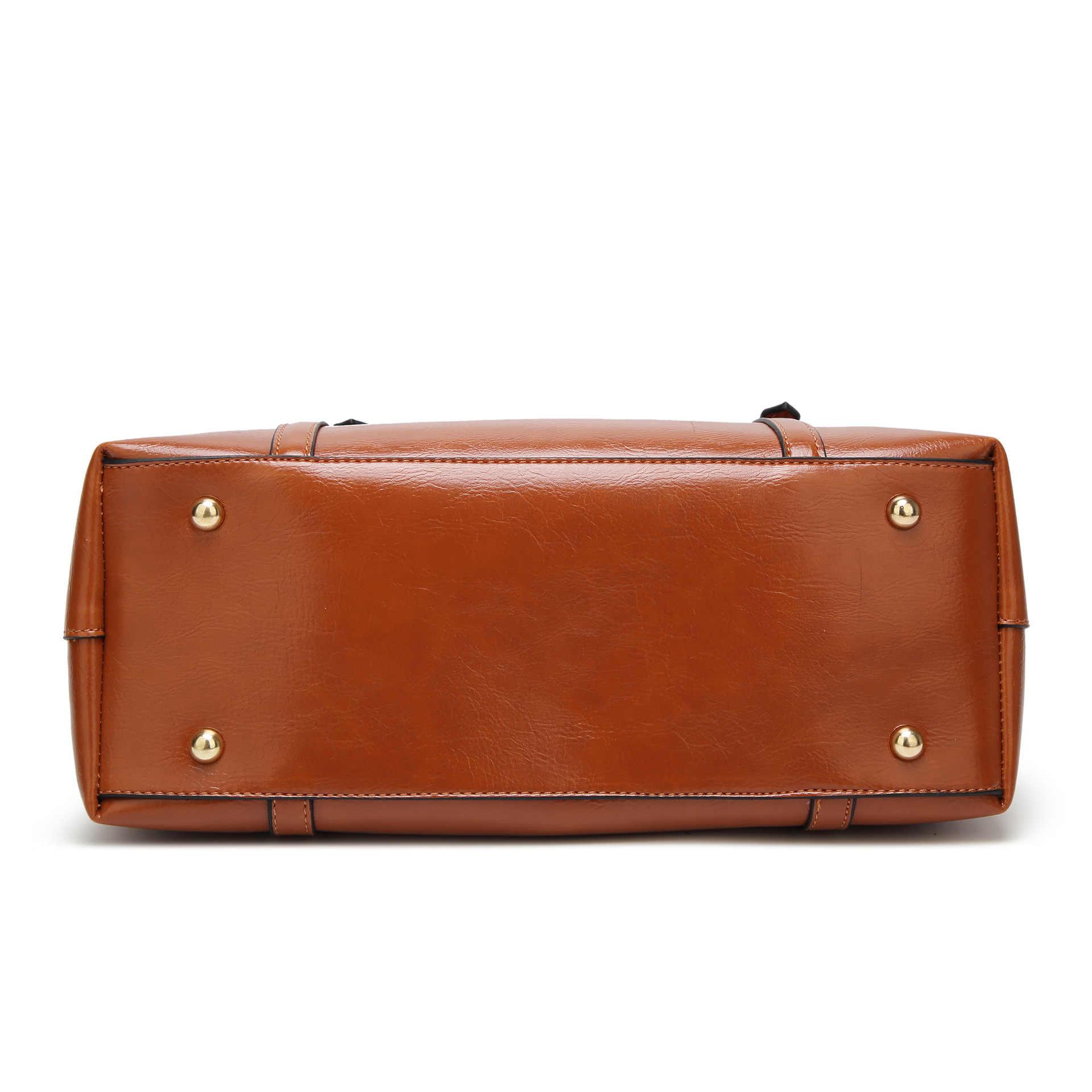 ブランドデザイン女性のソフト本革ハンドバッグ高品質女性牛革ビッグサイズのショルダーバッグファッショントート新 C1368
