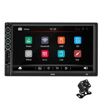 7 HD 2 din Android 8.1 IOS Automobile Car Multimedia Player Recorder Central Autoradio Touch Screen MP5 FM LED Rear View Camera image