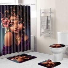 Изысканный креативный женский матовый ковер с рисунком головы