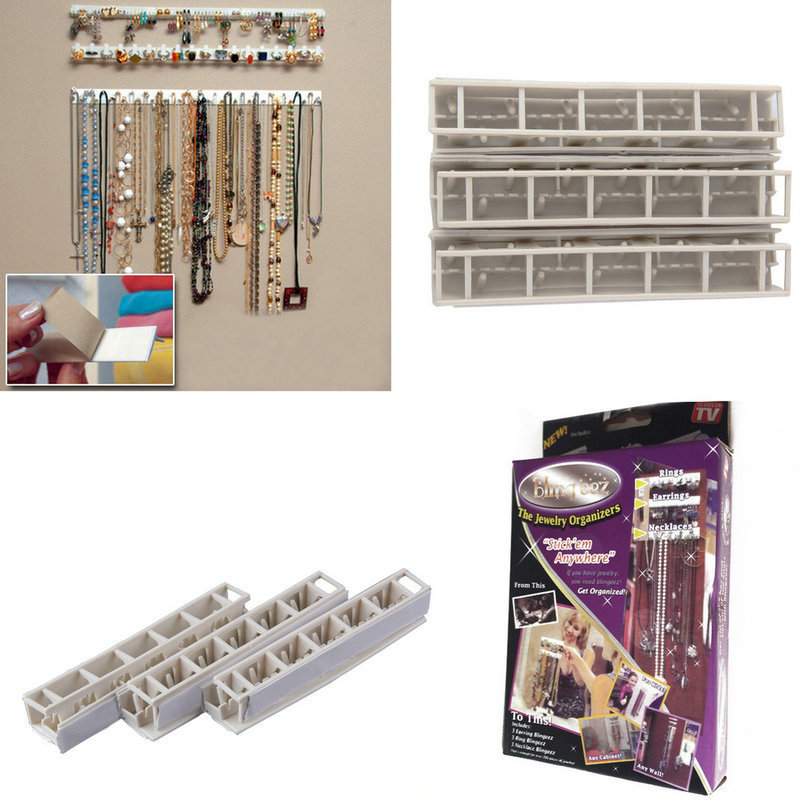 Holder-Organizer Necklace Hanger Jewelry-Rack Earring Stand-Tray Packaging Sticky-Hooks title=