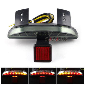 For Harley Davidson XL1200N 07-11/ XL883N Iron 09-15/ X48 14-15 Smoke Chopped Fender Edge Integrated LED Tail Light Turn signal