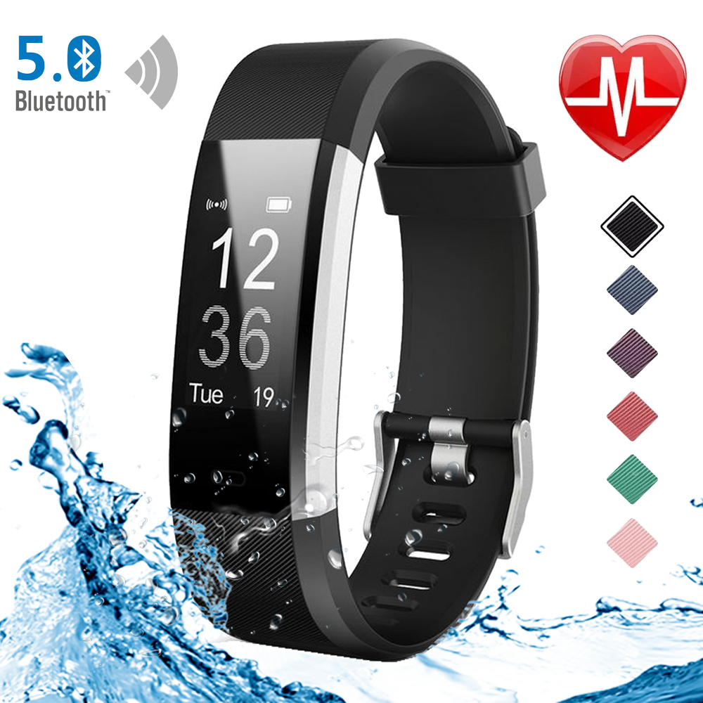 Funasera Smart Watch uomo donna cardiofrequenzimetro monitoraggio della pressione sanguigna Fitness Tracker Smartwatch Sport Watch per ios android + BOX 1