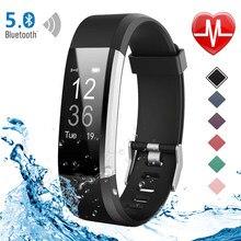 Funasera inteligente reloj de las mujeres de los hombres Monitor de ritmo cardíaco rastreador de Fitness de presión arterial inteligente reloj deportivo para ios android + caja
