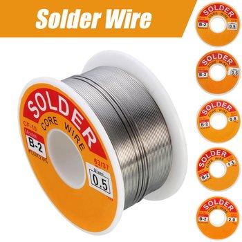 Do spawania elektrycznego elektronika kablowa montaż przewody 63 37 cyna ołów rdzeń żywiczny 0 5-2mm 2 Flux Reel linia do spawania lutowane drutu tanie i dobre opinie FORGELO used in electrical and electronics solder parts Other Tin alloy Solder Wire 100g