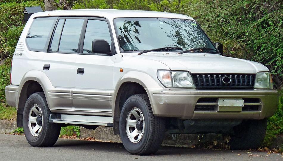 Chrome Trim Window Visors Guard Vent Deflectors Toyota Land Cruiser Prado 1996