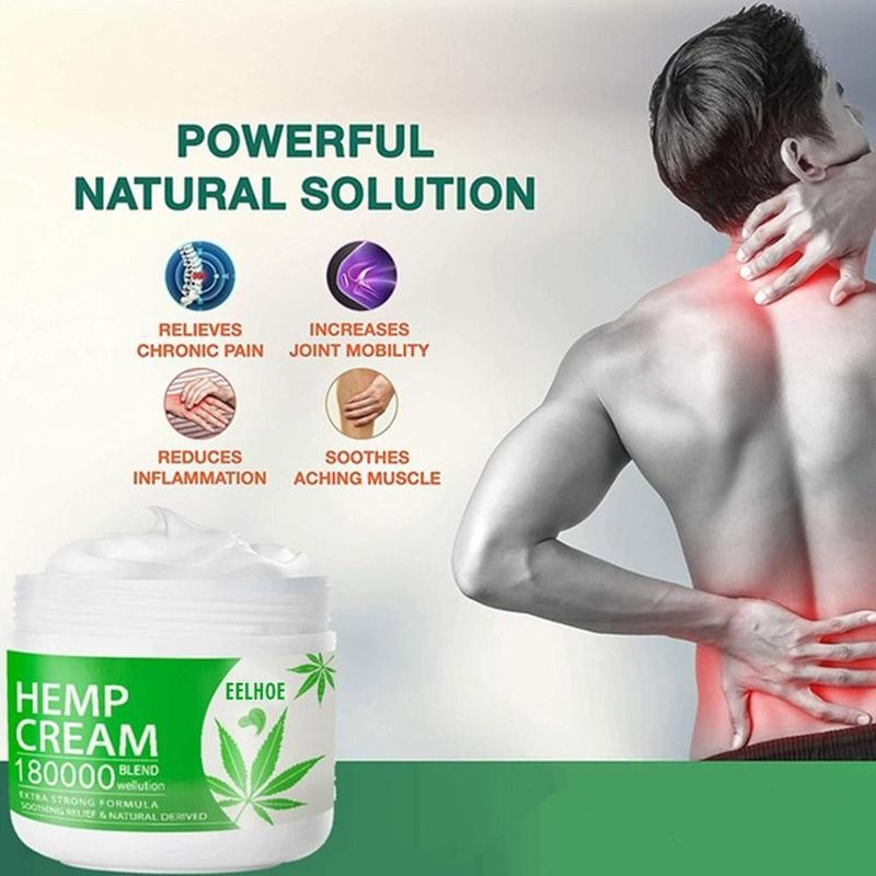 Pure Natural Soothing hemp cream Muscle Patches Cream Back Pain Body Arthritis Neck Joint For Rheumatoid Relief