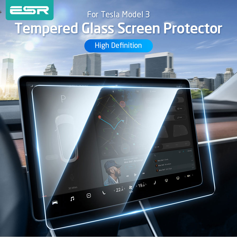 ESR Tempered Glass for Tesla Model 3 15 inch Car Navigation DVD Stereo Radio Touch Screen Transparent Screen Protector 9H Glass