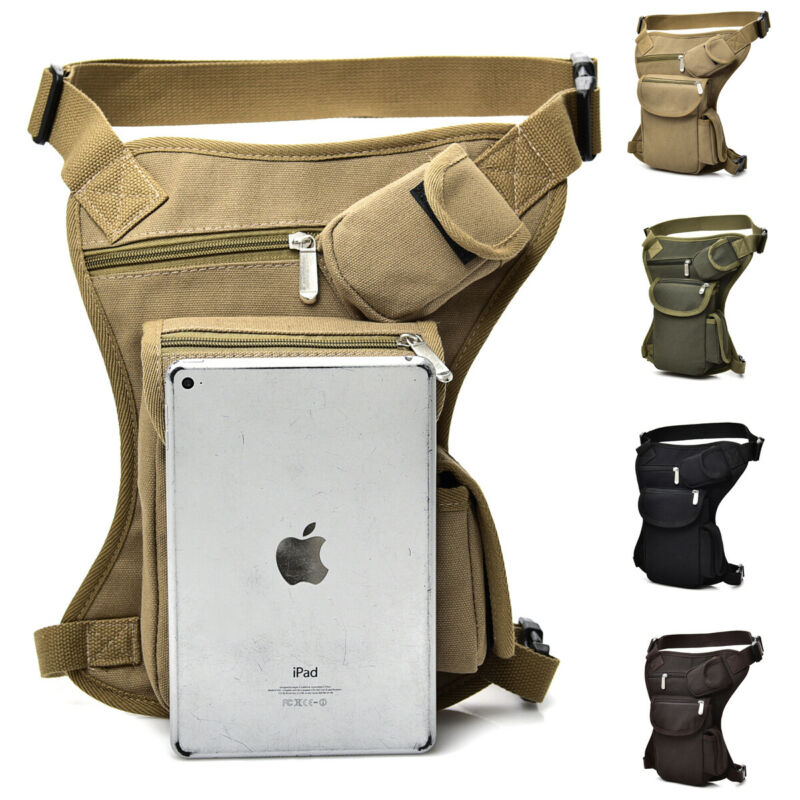 Outdoor Unisex Tactical Drop Leg Bag Thigh Pouch Waist Belt Military Bag New