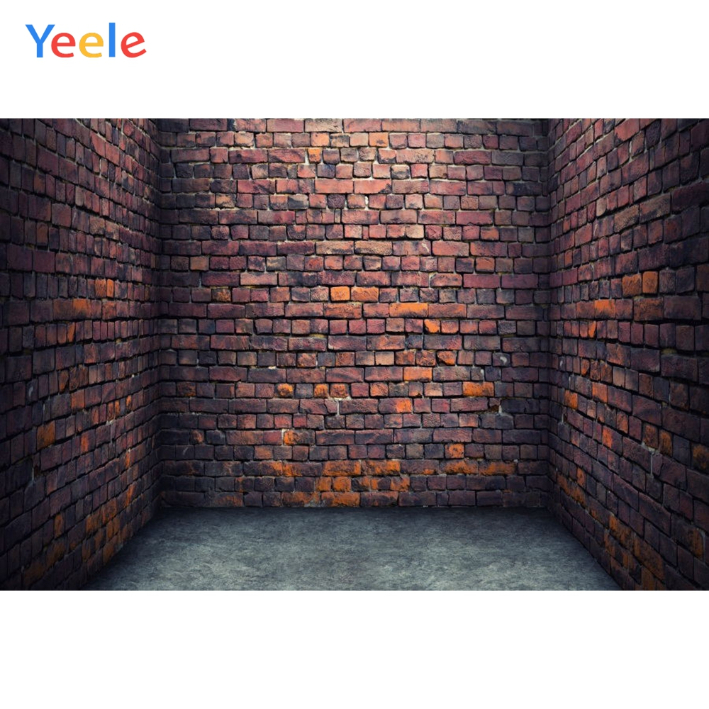 YEELE Old Concrete Wall Backdrop 9x9ft Grunge Dark Wall Room Interior Photography Background Shabby Wall Art VBS Decorattive Kids Young Adults Portrait Photobooth Studio Props Digital Wallpaper