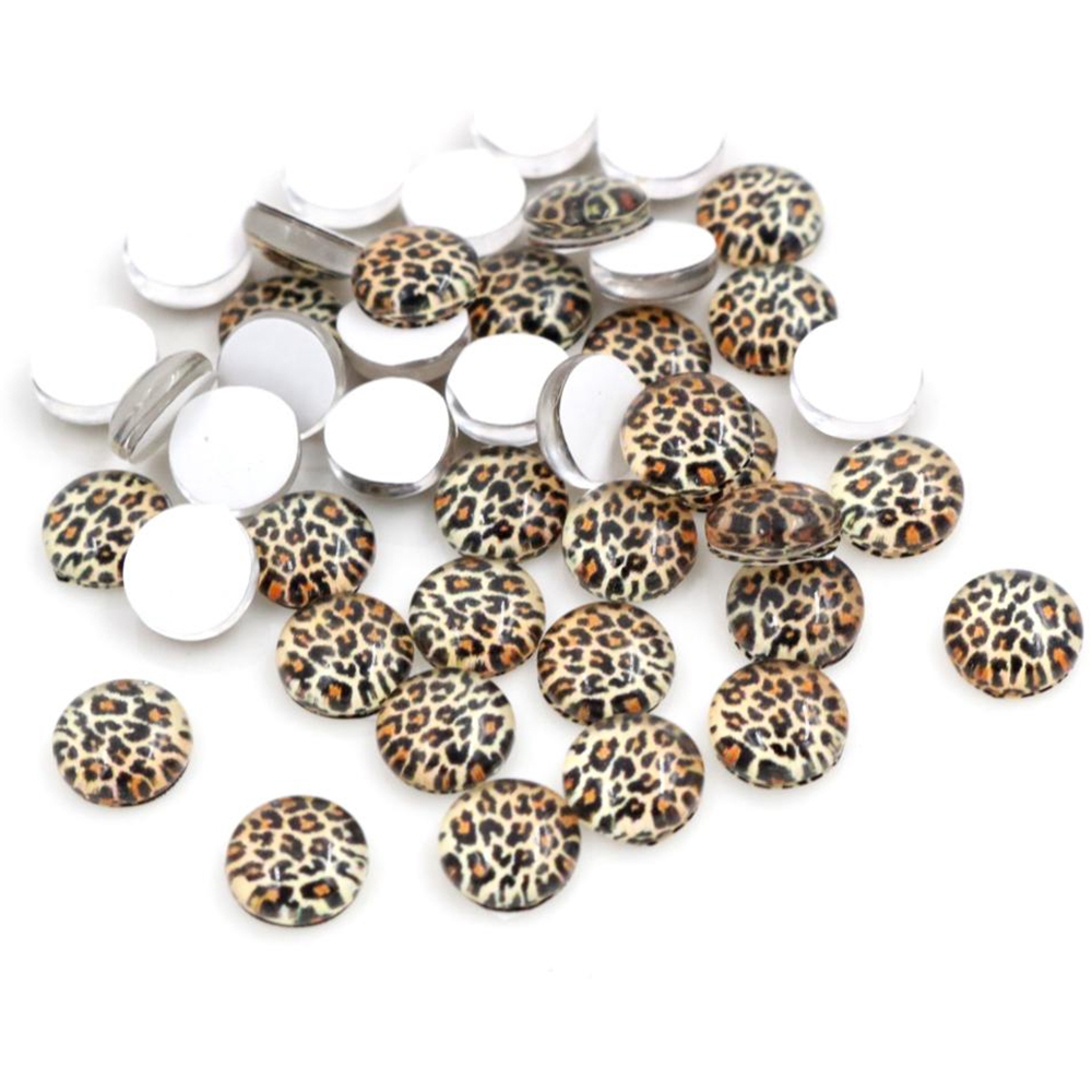 Hot Sale 50pcs 8mm And 10mm Handmade Glass Cabochons Pattern Domed Jewelry Accessories Supplies