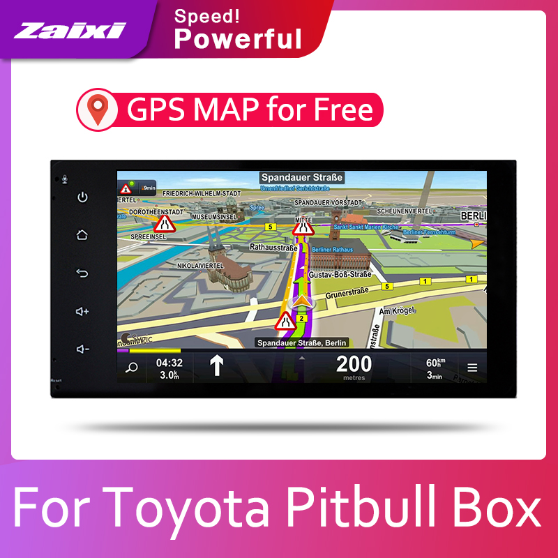 ZaiXi Car Android System 1080P IPS LCD Screen For Toyota Pitbull Box 2004~2019 Car Radio Player GPS Navigation BT WiFi AUX image