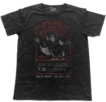 Ozzy Osbourne diario de un loco Japón Flyer aspecto Vintage camiseta nueva