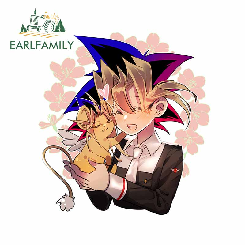 EARLFAMILY 13cm X 12.3cm For Yami Yugi Mobile Wallpaper Page Vinyl Car Sticker Body For Car VAN Decoration Laptop Decal