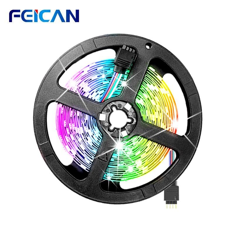 Luz de tira conduzida rgb 10m 5m 3528 smd rgb luz de fundo 12v neon