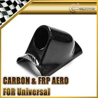 Universal Fit Carbon Fiber Single Gauge Pod 52mm Glossy Finish Dash Part Fibre Inner Dial Cover For R32 R33 R34 EG EK FD FN FK