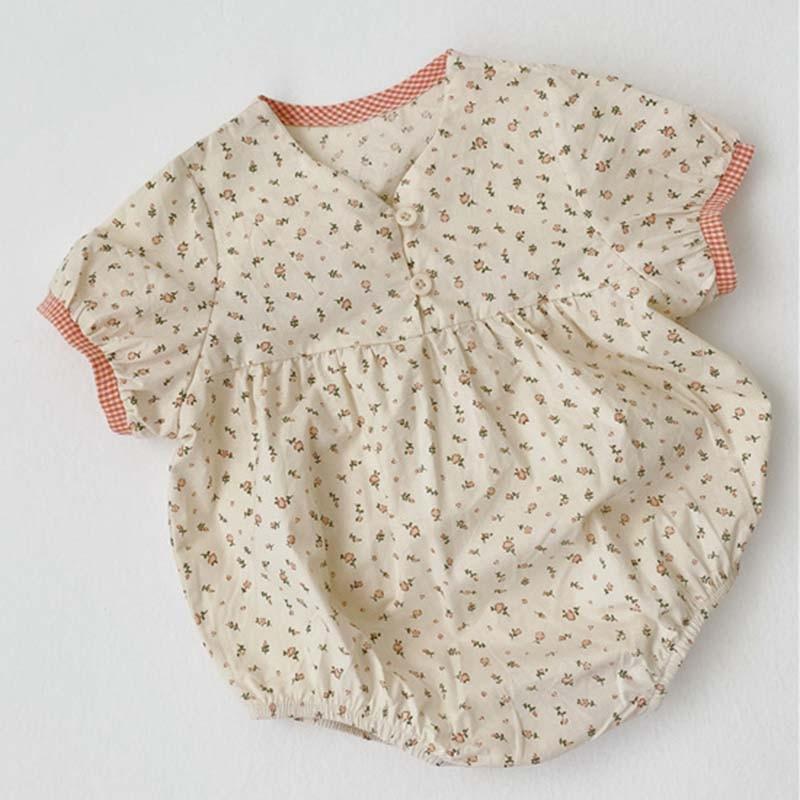 2020 New Lovely Princess Romper Korean Japan Style Toddler Baby Girl Cotton Romper Newborn Baby Girl Flower Jumpsuit