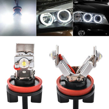 Car 6000K White LED Angel Eye Bulbs For BMW E60 E61 E71 E70 LCI E90 E91 Parts image