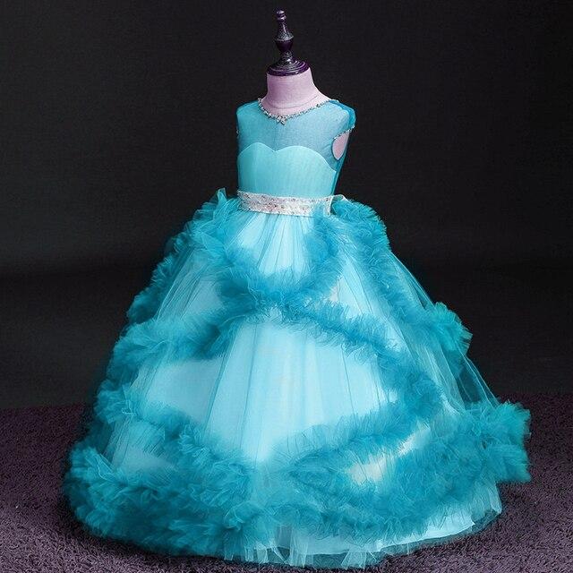 Купить платья с рюшами и цветочным узором для девочек; платье торжеств картинки