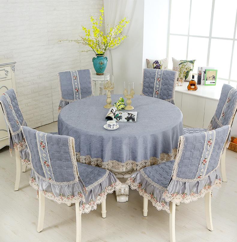 Круглая Декоративная скатерть для столовой