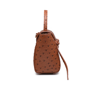 Image 3 - HIGHREAL New Customized Luxury Brand Design Women Ostrich Leather Tote Bag Clutch Tote Shoulder Bag Trendy Bag