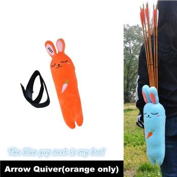Archery Arrow Quiver Cartoon Radish rabbit Arrow Holder Plush Toy Cute Creative Arrow Bag For Fun Hunting Shooting Outdoor Sport