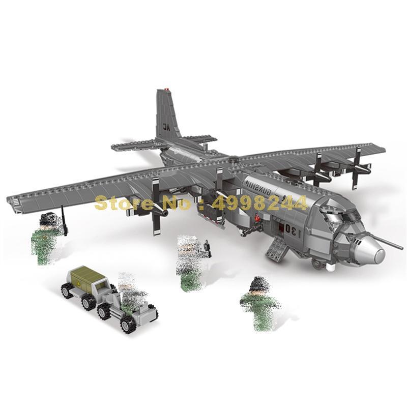 Xb06023 1713pcs 군사 시리즈 130 공중 gunboat 세트 빌딩 블록 3 피규어 벽돌 장난감-에서블록부터 완구 & 취미 의  그룹 1