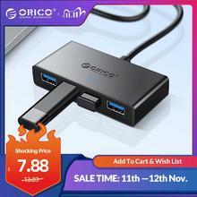 ORICO Mini USB 3,0 HUB fuente de alimentación de 4 puertos OTG con interfaz de alimentación Micro USB para MacBook Laptop Tablet ordenador eje OTG USB