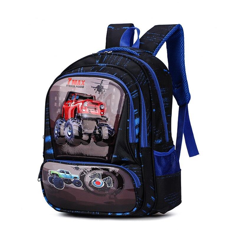 Школьные рюкзаки для мальчиков и девочек с изображением футбольной машинки, Детские рюкзаки с милым медведем, водонепроницаемый ортопедический ранец, Студенческая сумка сетчел для книг класса 1 3 5|Школьные ранцы| | АлиЭкспресс