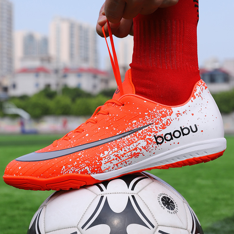 Men Football Boots Soccer Cleats Boots Spikes TF Spikes Cleat Sneakers Soft Turf Futsal Training Soccer Shoes|Soccer Shoes|   - title=
