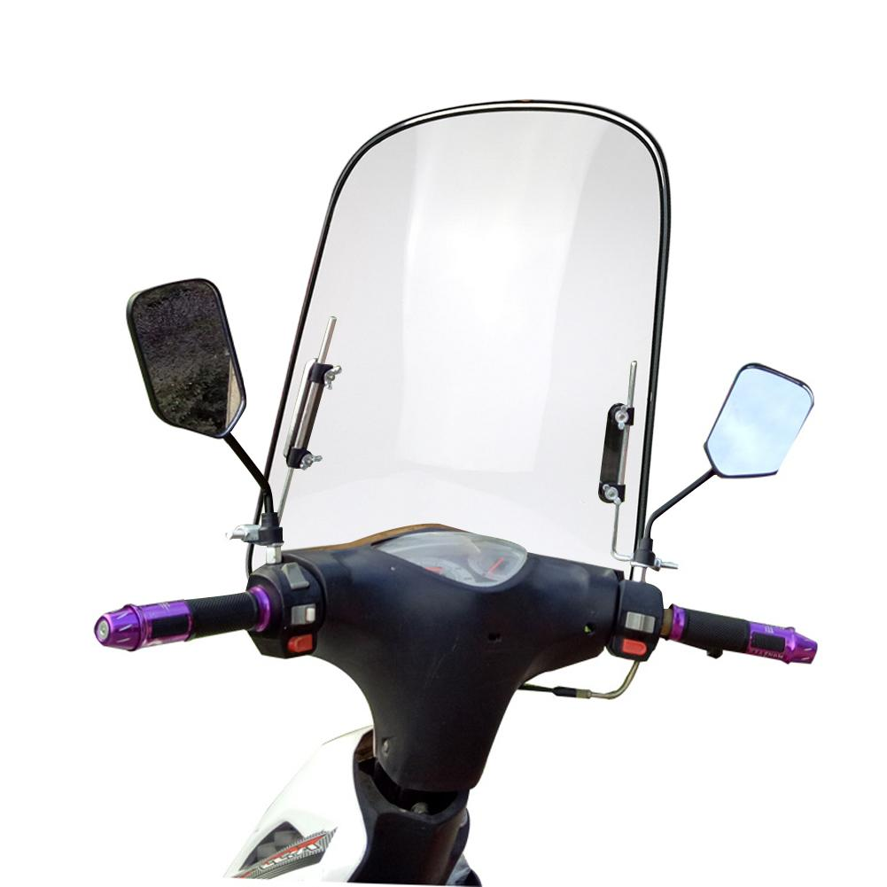Motocycle Scooters Windshield Extension Spoiler Universal Pc Windshield Widened Edging Wind Deflector For Motorcycle Motor Parts